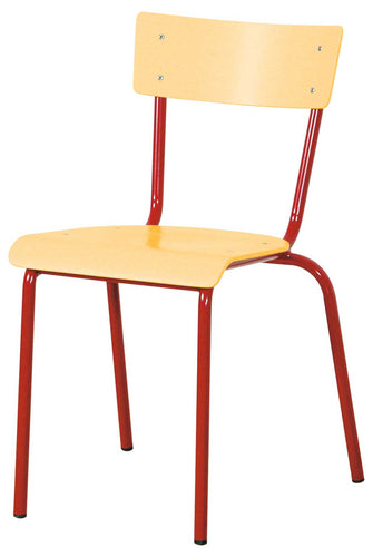 Steel Chair - Red 35cm