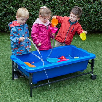 Sand & Water Play Table 40cm Blue/Translucent 2pk