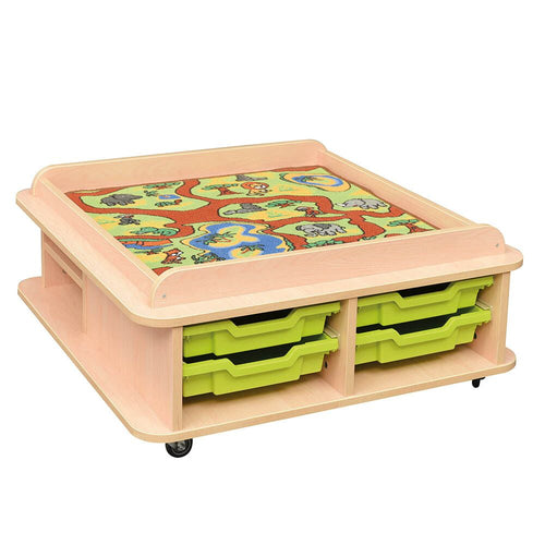 Toddler Low Square Play Table