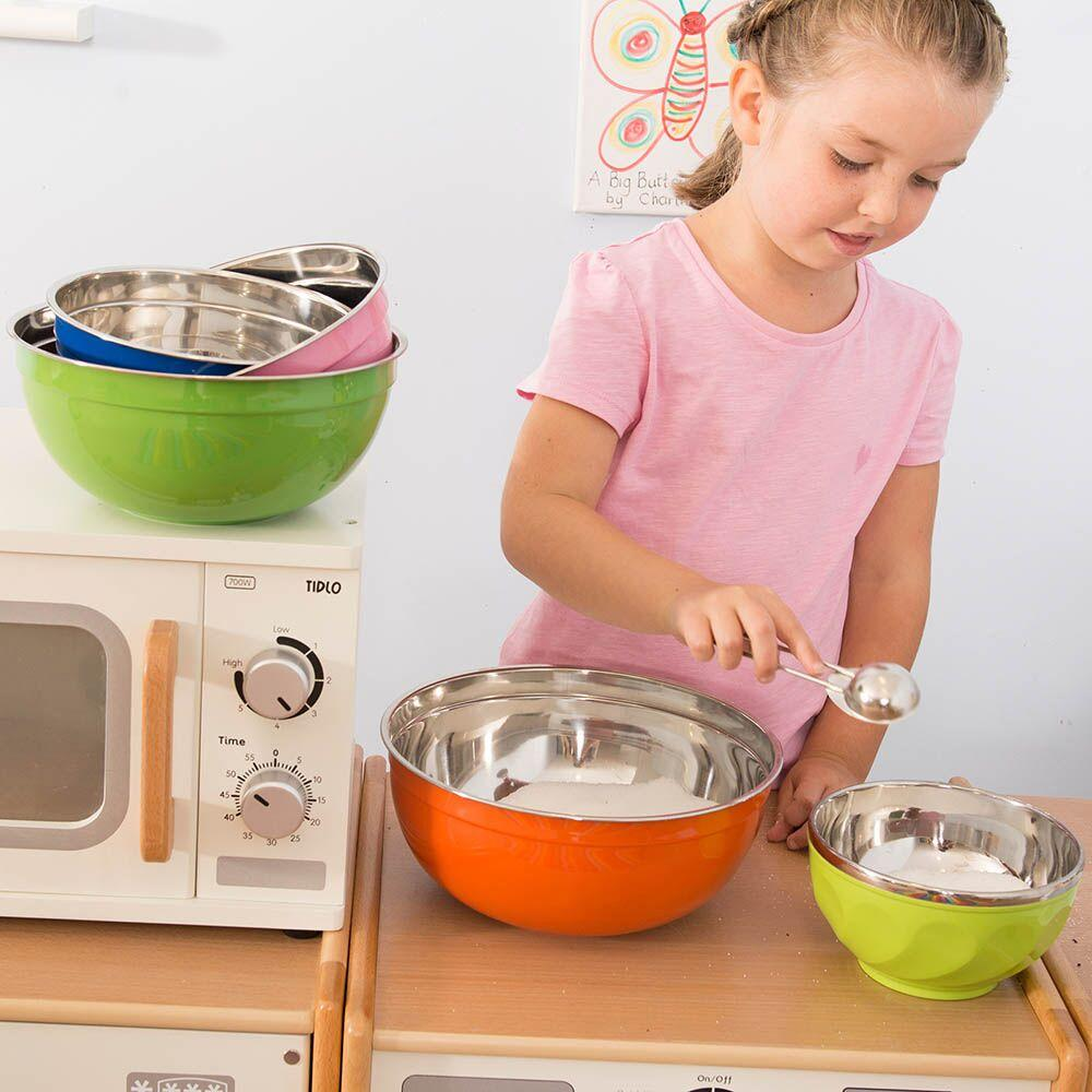 Budget Colourful Plastic and Metal Bowl Set