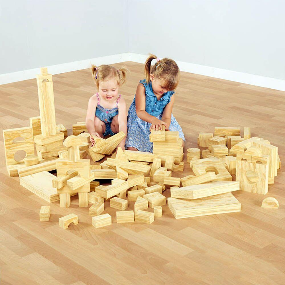 Soft Wood Effect Foam Blocks 152pk