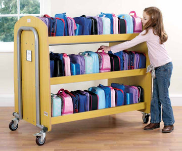 Double Lunchbox Trolley (timber) - EASE