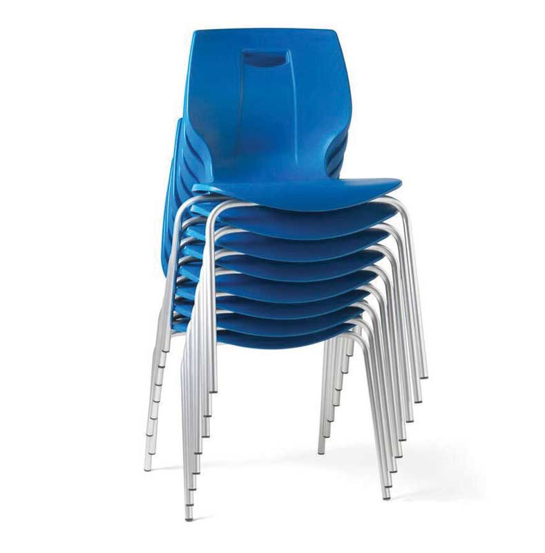 Geo Chair is stackable