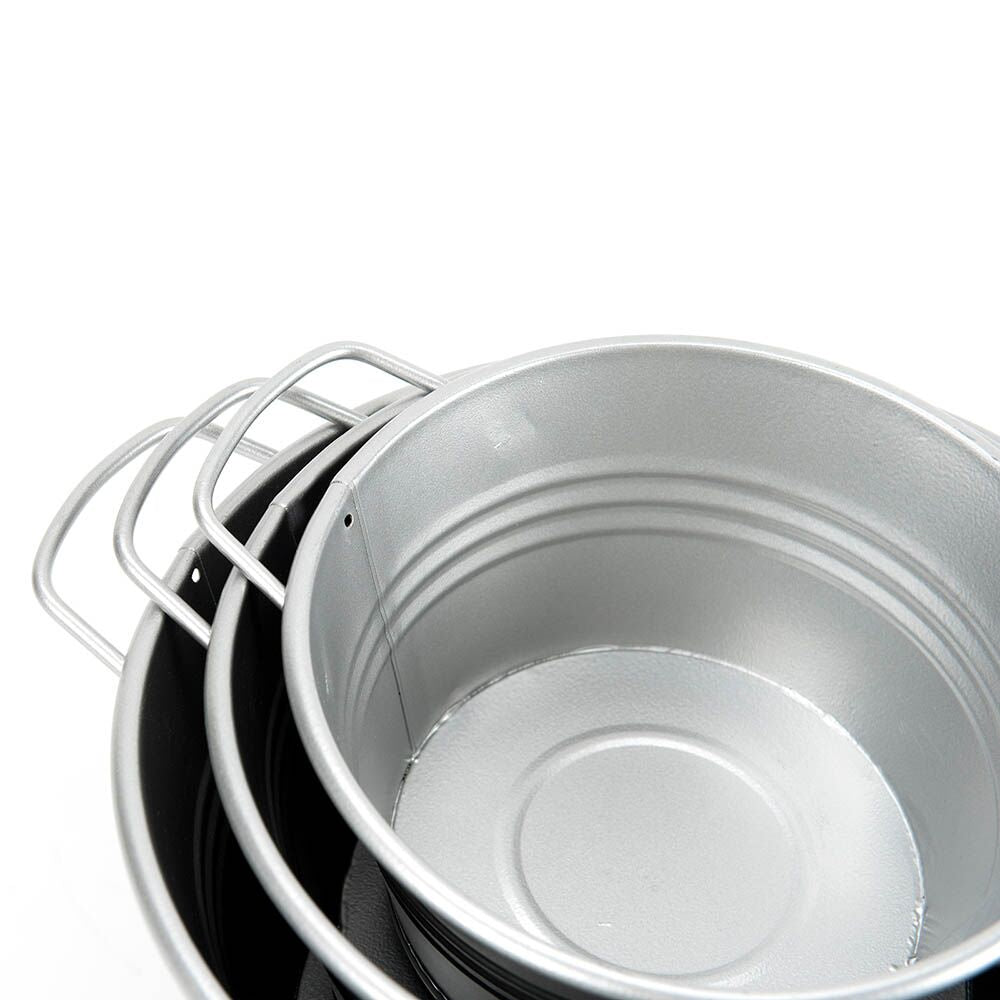 Metal Cans and Tubs 6pcs