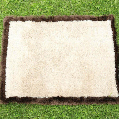 Soft Brown and Cream Outdoor Carpet 160 x 110cm