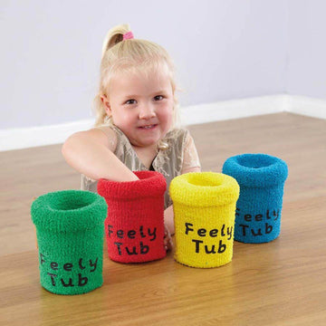 Fabric Colour and Texture Reach In Feely Tubs 4pk