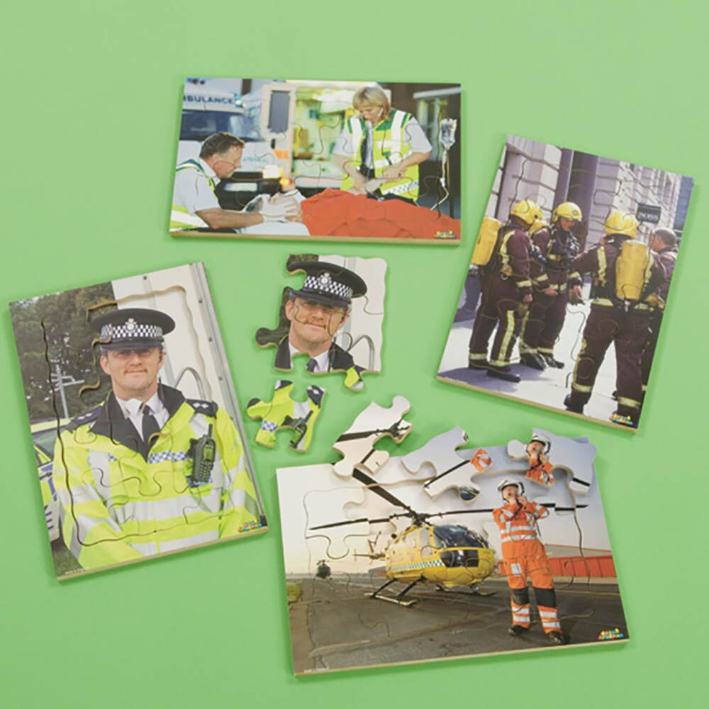 People Who Help Us Photographic Puzzle Set 4pk
