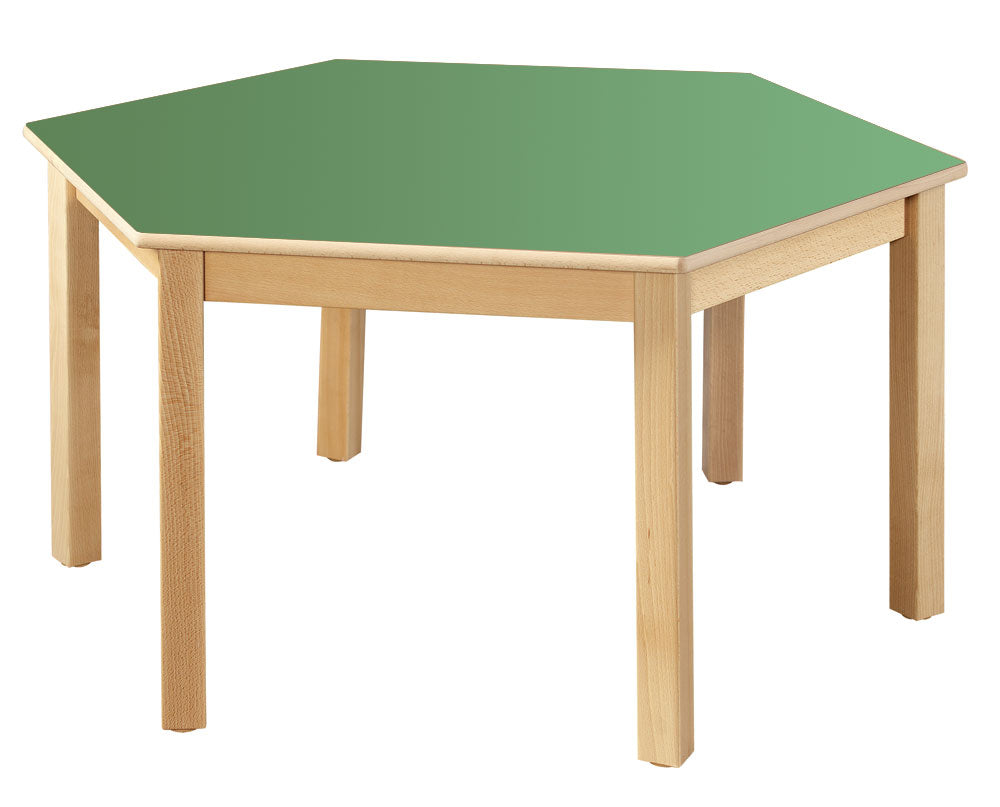 Hexagonal Table 40cm All Colours