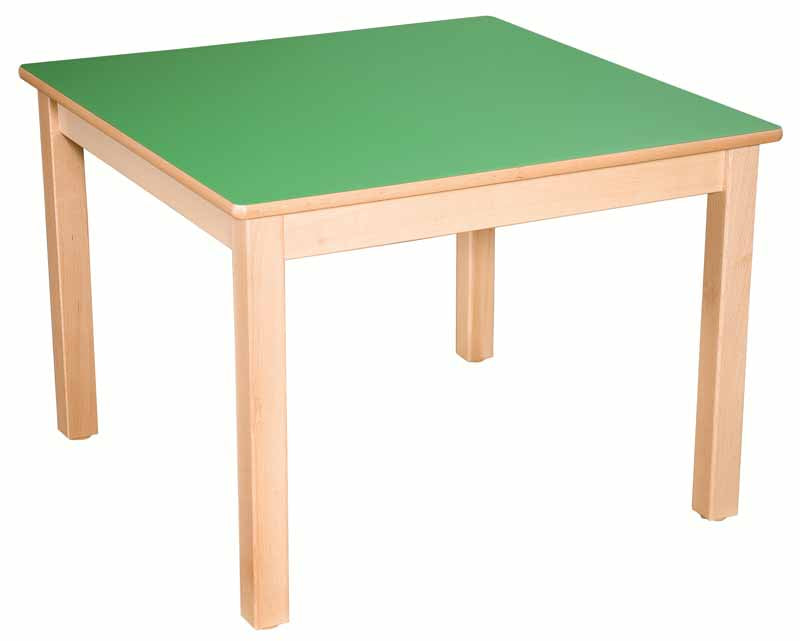 Square Table Green All Heights