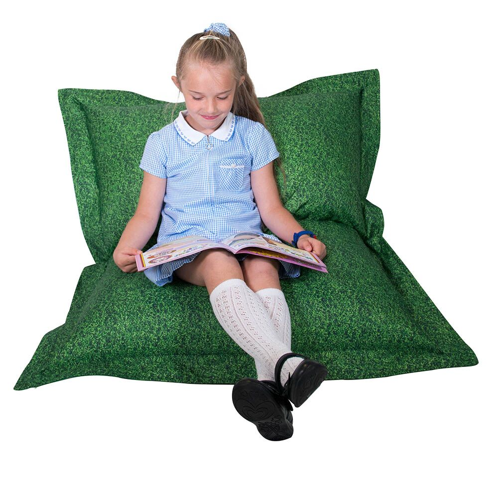 Grass Printed Childrens Floor Cushion