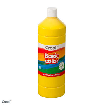 Primary Yellow CREALL Poster Paint 1 Litre