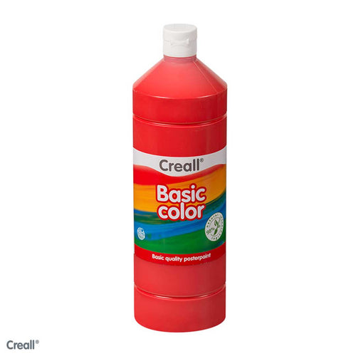 Primary Red CREALL Poster Paint 1 Litre