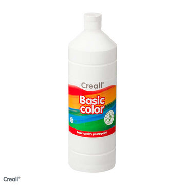White CREALL Poster Paint 1 Litre