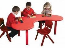 Horseshoe Table Red 52cm