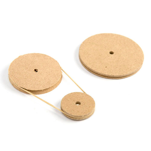 Wooden Pulleys 34mm 10pk