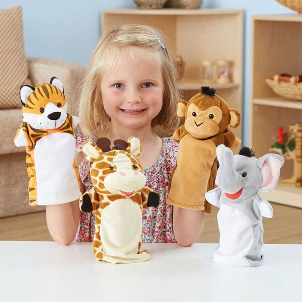 Role Play Zoo Animals Puppet Set 4pcs