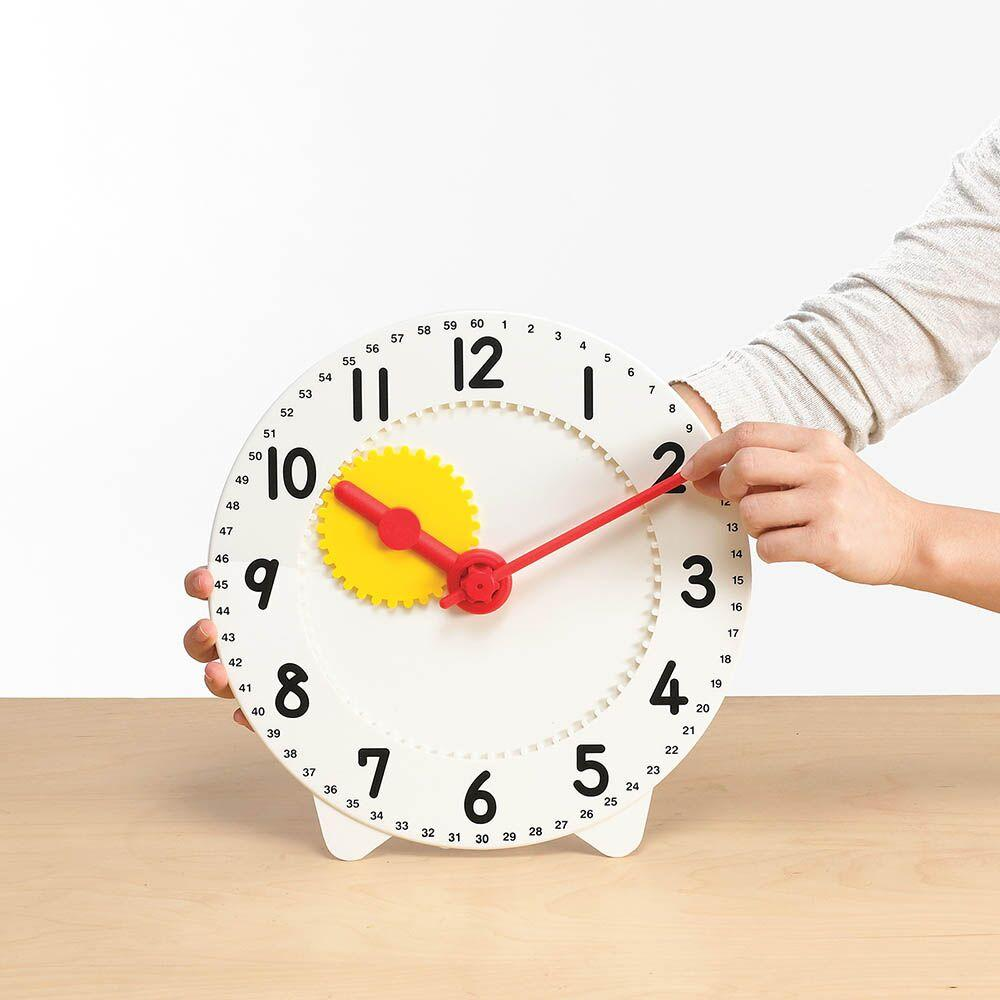 Geared Plastic Teaching Clock