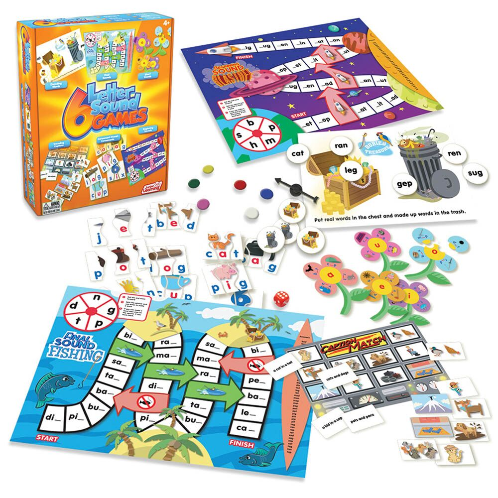 Letter Sound Phonic Games 6pk
