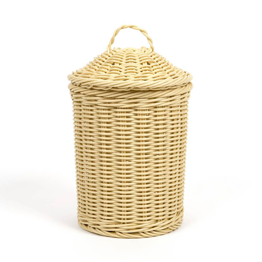 Woven Nesting Storage Baskets with Lids 3pk