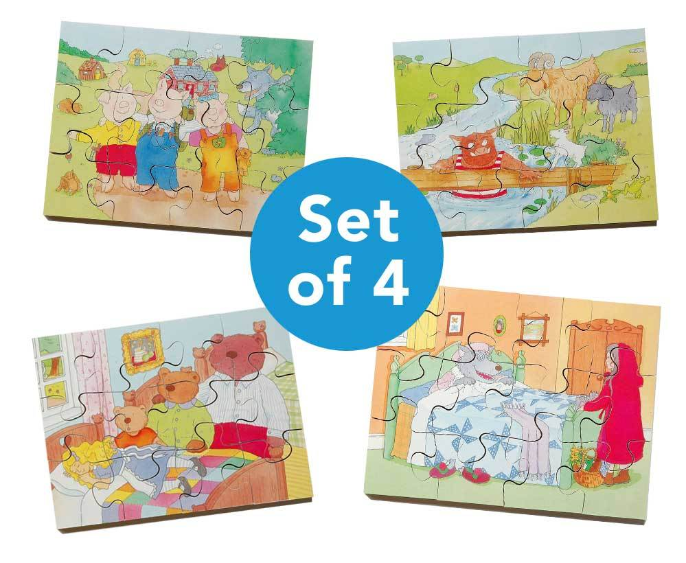 Wooden Four Seasons Jigsaw Puzzles 4pk