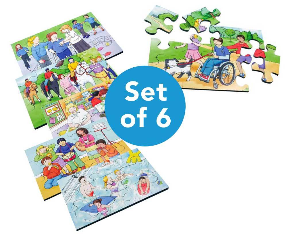 Illustrated Inclusion Jigsaw Puzzle 6pk