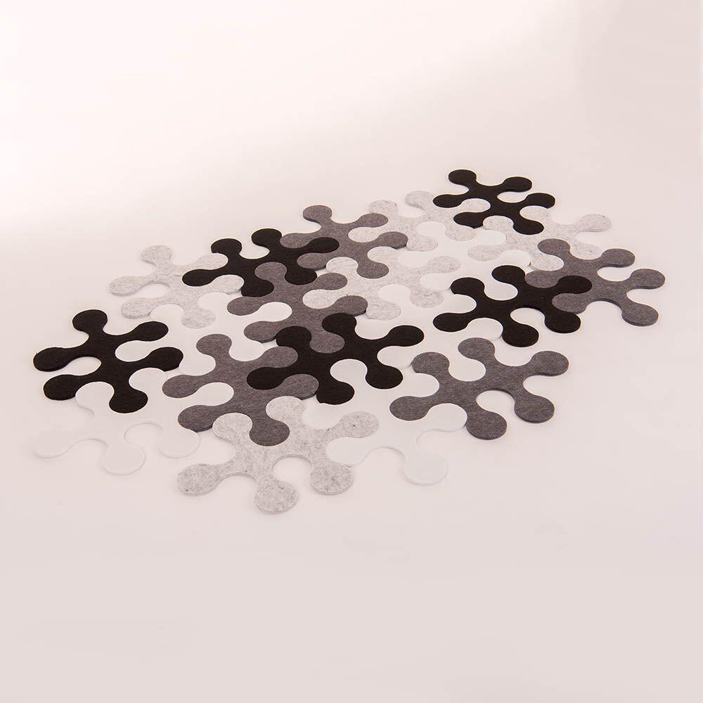 Black & White Jigsaw Rug Hexagonal