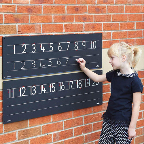 Outdoor Chalkboard Number Line 1-20