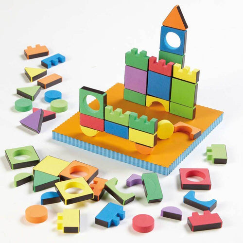 Magic Magnetic Foam Shapes 54pcs