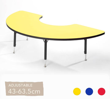 Adjustable Arc Table  All Colours 43cm -63.5cm
