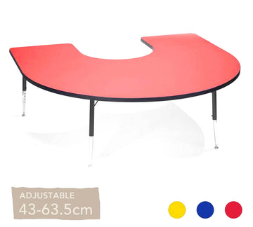 Adjustable Horsehoe Table All Colours 43cm - 63.5cm