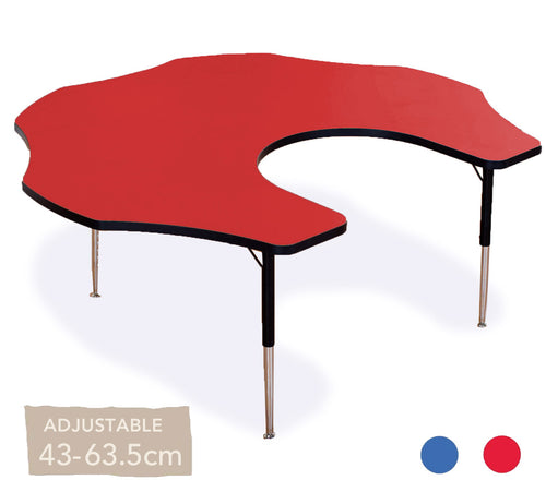 Adjustable Flower Teacher's Table All Colours 43cm - 63.5cm