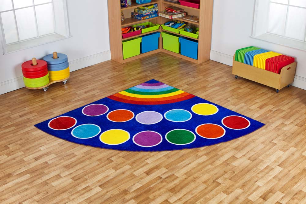 Rainbow Corner Placement Carpet