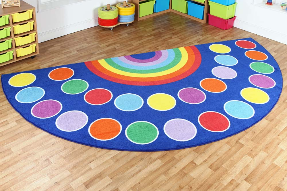 Rainbow Semi-Circle Placement Carpet