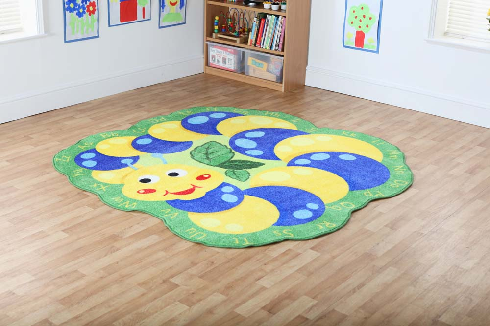 Back to Nature Alphabet Caterpillar Shaped Carpet
