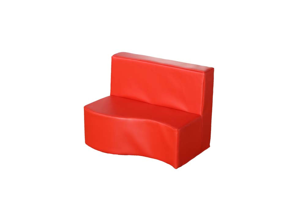 Modular Seating 2 Seat Sofa Poppy Red