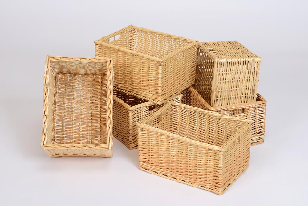 Wicker Basket (Deep Pack Of 6)