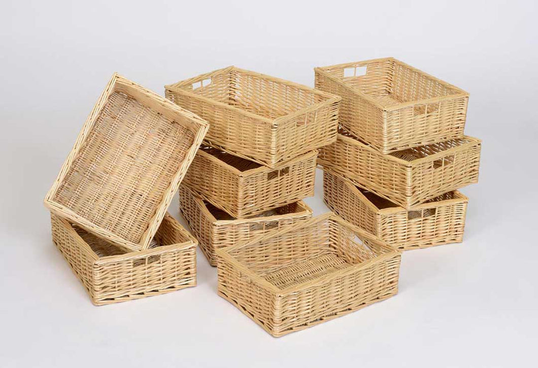 Wicker Basket (Shallow Pack Of 9)
