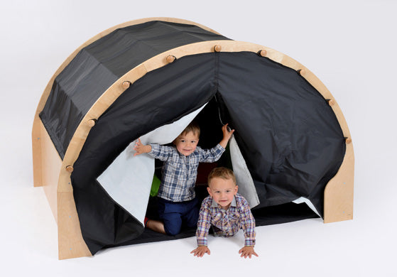 Play Pod W/Canopy + Furnishings - Black