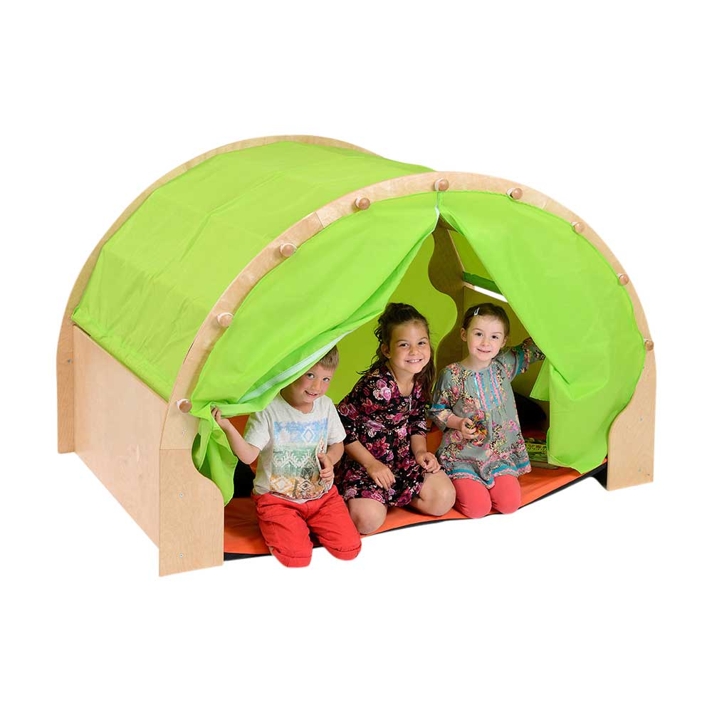 Pod W/Canopy + Furnishings - Green