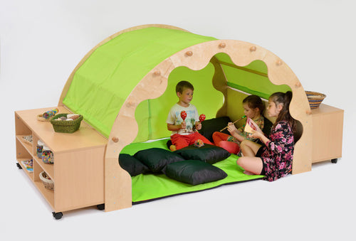 Pod W/Canopy + Complete Set Incl. Bookcases - Green