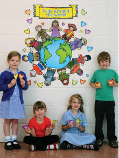 Kids Around The World Bulletin Board Set