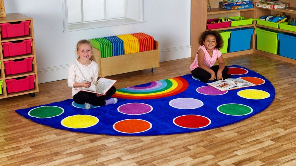 Rainbow Semi Circle Placement Carpet