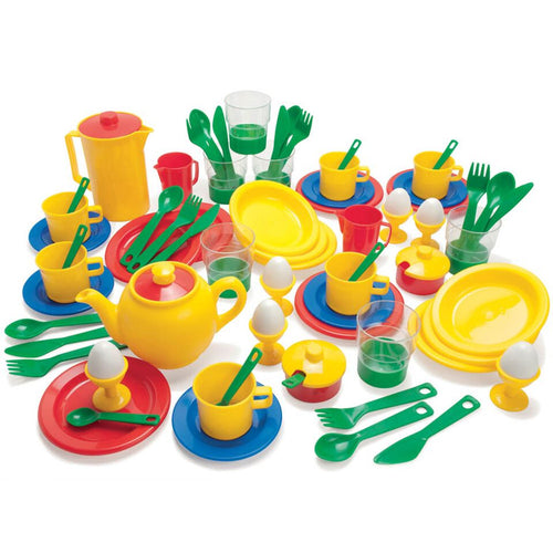 Plastic Role Play Kitchen Set 78pcs
