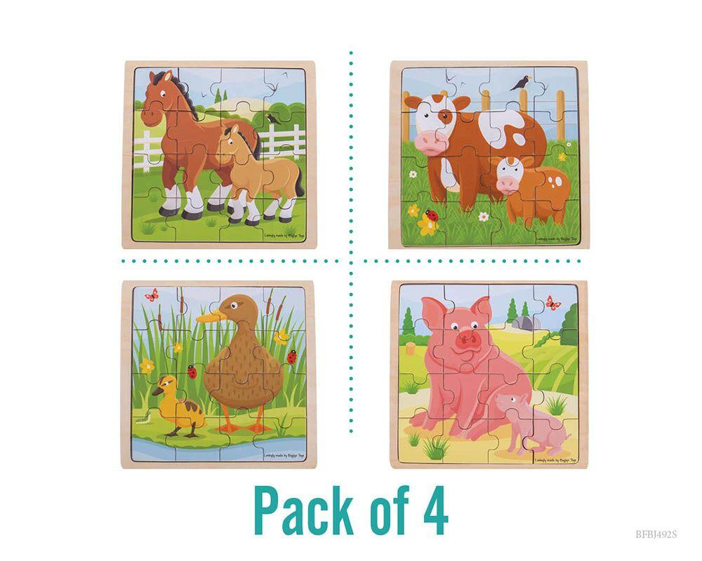 Animal Puzzles Pack of 4 (Pk 2)