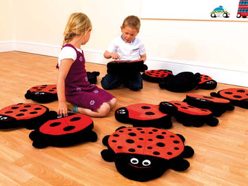 Back To Nature Counting Ladybird Cushions