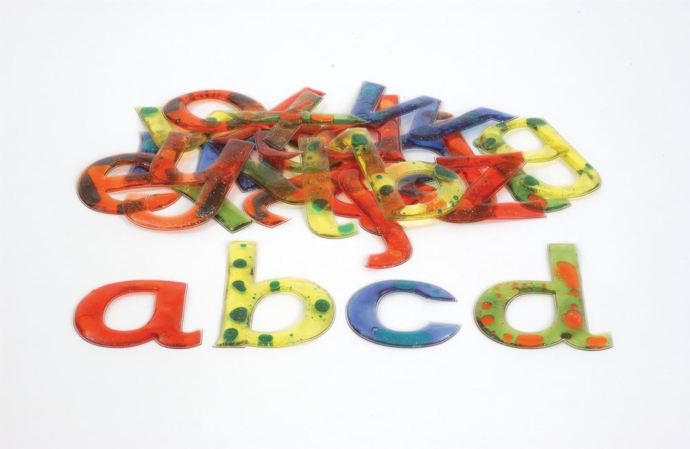 Squidgy Sparkle Gel Lowercase Letters 26pk