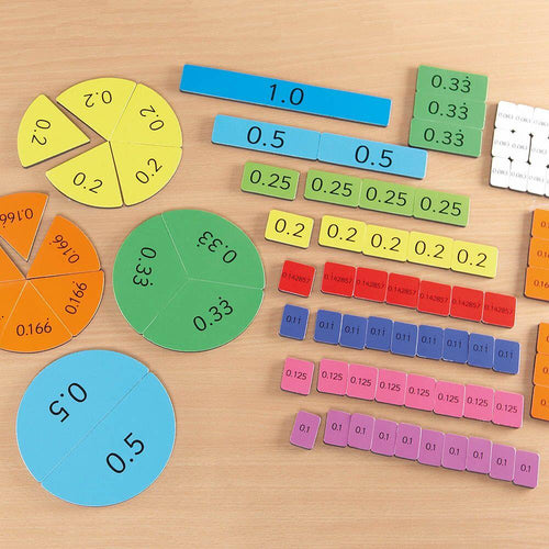 Foam Magnetic Decimal Tiles 106pcs