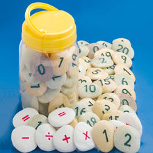 Number Pebbles Engraved Number Stones 0-10 22pcs
