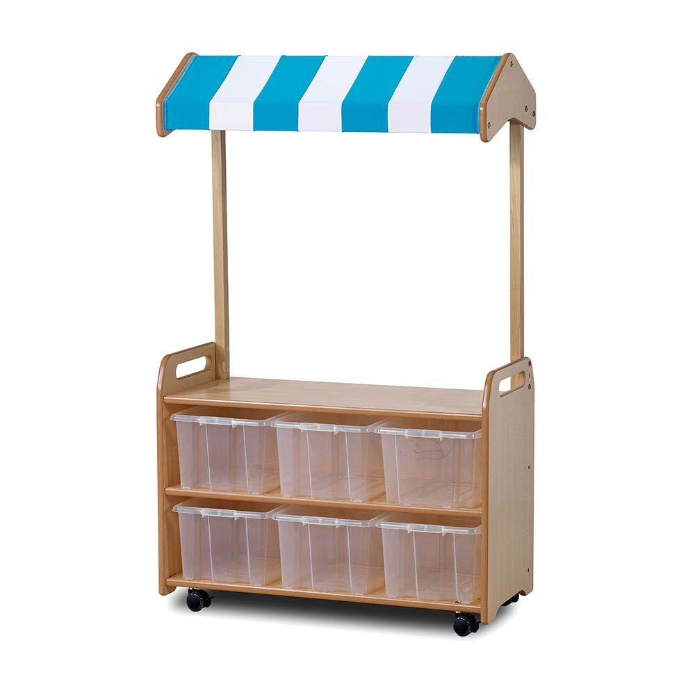 Mobile Shelf Unit with Canopy