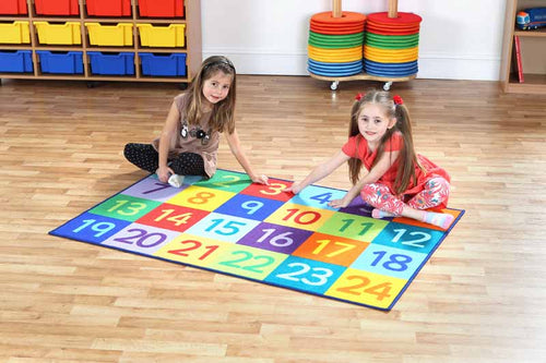 Rainbow 1-24 Numbers Carpet - EASE